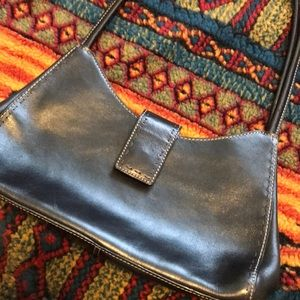 Fossil | Leather Black Hobo Handbag